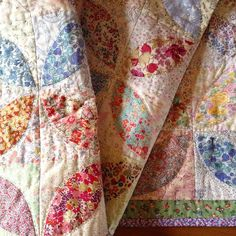 First finish of 2016 - let's hope it's not the last! Cute Quilts, Scrappy Quilts, Baby Quilts, Liberty Quilt, Liberty Fabric, Antique Quilts, Vintage Quilts, Textiles, Hand Quilting