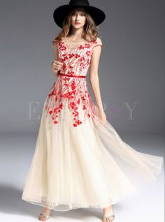 19270b554d Shop for high quality Elegant High Waist Mesh Slim Maxi Dress online at cheap  prices and
