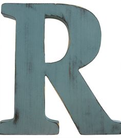 Letter R Wall Letter Wood Sign Wall Decor Rustic by ThePineNuts