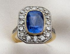 victorian sapphire and diamond ring  - i think the diamonds on the band might be a bit much...