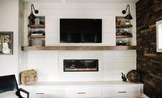 A Modern Farmhouse Fireplace Update | Emily Henderson | Bloglovin'