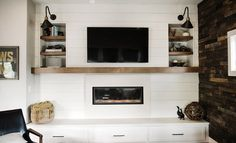 A Modern Farmhouse Fireplace Update