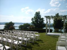 The view from the Garden Terrace at Chateau on the Lake, Branson MO Lake Resort, Resort Spa, Chateau On The Lake, Let's Get Married, Little White Dresses, Digital Marketing Services, Terrace, Wedding Day, Wedding Inspiration