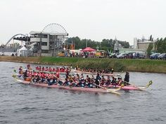 Picture from open ceremony at the International Dragon Boat Races in Italy, 2014