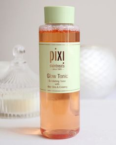 Glow Tonic by Pixi :  It contains glycolic acid, the holy grail of beauty product ingredients, which is supposed to remove the top layer of skin by breaking down skin cells, thus making you look fresher and younger!