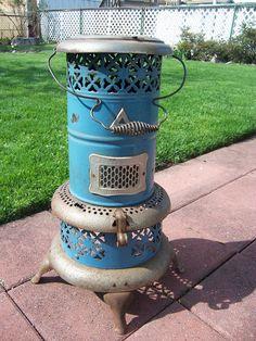 Antique 1913 Perfection Kerosene Oil Portable Space Heater Stove Lantern model 1630