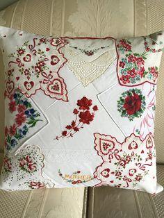 Vintage hankerchief pillow