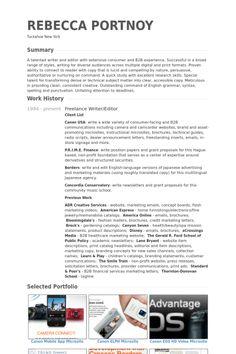 Freelance #Writer Resume Example Resumecompanion Com