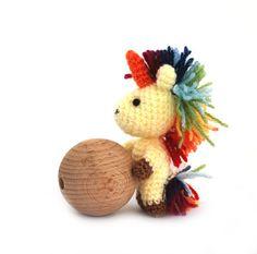 crochet #unicorn, amigurumi unicorn, stuffed unicorn doll, #miniature unicorn toy, small #fairydoll, animal doll crochet, little unicorn