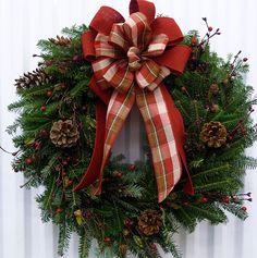 Achat en ligne de couronnes de Noël   Sapinière Downey