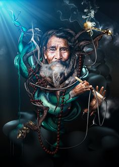 Sadhu by Pieter Vonk, via Behance