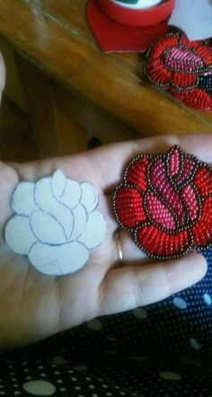 Embroidery Jewelry - How To Make Blue Seed Bead Embroidery Rose Bangle Bracelets . Embroidery Jewelry – How To Make Blue Seed Bead Embroidery Rose Bangle Bracelets – Salvabrani Bead Embroidery Jewelry, Rose Embroidery, Embroidery Designs, Beaded Jewelry, Diy Jewelry, Embroidery With Beads, Jewelry Ideas, Bead Embroidery Tutorial, Jewelry Making