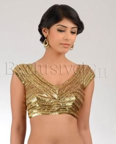 Gold Saree Blouse Online