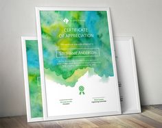 Buy Watercolor Corporate Certificate Template by almirah on GraphicRiver. This a beautiful corporate business certificate templates pack featuring yellow green watercolor design - Vector AI F. Create Certificate, Certificate Design Template, Invoice Template, Green Watercolor, Watercolor Design, Watercolour, Stationery Templates, Design Templates, Word Templates