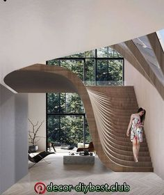 impressive staircase design inspirations for your house 19 Interior Design Inspiration, Home Interior Design, Interior And Exterior, Design Ideas, Luxury Interior, Interior Ideas, Exterior Design, Design Design, Architecture Design
