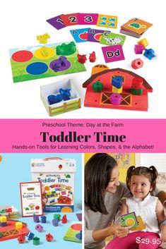 Toddler Time Preschool Learning Activities.  #preschool #toddlers