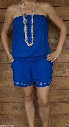 NEW HOT SUMMER ONESIE SHORTS SUIT JUMPSUIT JUMPSUITS DRAWSTRING OSFA 8 - 14  $37.00