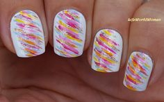 #Colorful #Striped #Nailart For #Summer