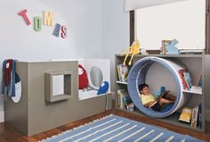 20 Fantastic Kids Playroom Design Ideas – My Life Spot Reading Nook Kids, Reading Room, Kids Reading Corners, Reading School, Children Reading, Book Corners, Playroom Organization, Organization Ideas, Organized Playroom