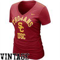Nike USC Trojans Ladies Who's That V-Neck T-Shirt