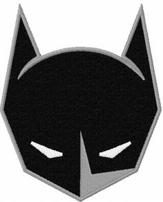 Batman helmet embroidery design. Machine embroidery design. www.embroideres.com