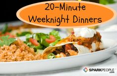 Whip up supper fast with these 20-minute meal ideas. @SparkPeople #dinner #recipes