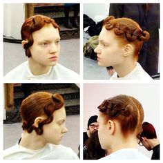 Aveda's take on 1920's finger waves at Kimberly Orvitz