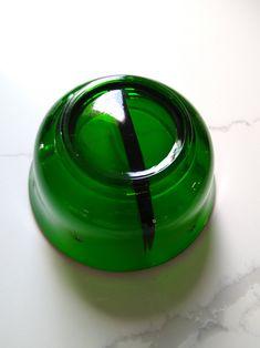 vintage art deco green ashtray