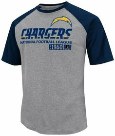 NFL Mens San Diego Chargers Zone Blitz III Athletic Gray Hthr/Ath Navy Short Sleeve Crew Neck Overdyed Tee by Majestic. $14.64. Pakistan. Cotton 60%/Polyesther 40%. Overdyed Jersey Tee. Solide Rib Collar And Raglan Sleeves. Short Sleeve. Shoot Across The Scrimmage Line And Go For The Tackle In The Nfl® Zone Blitz T-Shirt. This Tee Boasts A Comfortable Fit And Includes A Soft Cotton Twill Wordmark And Screenprinted Team Logo On The Front.