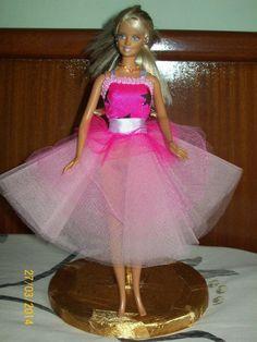 vestido rosa con tul