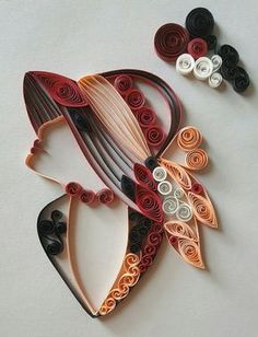 Quilling modele : Beautiful Women on Quilling ! Neli Quilling, Quilling Images, Paper Quilling Patterns, Origami Patterns, Quilling Paper Craft, Quilling Ideas, Paper Quilling For Beginners, Quilling Techniques, Quilling Tutorial