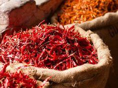 Sacks of Chilli | Old Delhi spice market √