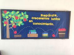 Prepárate, creceremos juntos en conocimiento. Periódico mural para inicio de curso escolar. Todo inicia con el estudio de la Biblia.