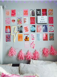 The Vogue Print Pack Wall Collage Kit Collage Mural, Bedroom Wall Collage, Wall Collage Decor, Cute Room Ideas, Cute Room Decor, Teen Wall Decor, Room Ideas For Teens, Bedroom Decor For Teen Girls, Hangout Room