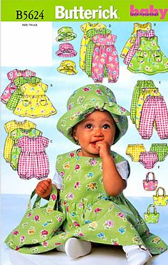Baby Girls' Dress Pattern Infant Girls' Romper Pattern by blue510