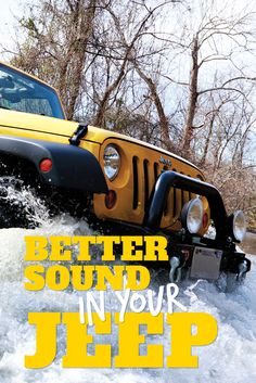Replace and improve upon the factory stereo system in your Jeep Wrangler with the right aftermarket stereo. Get started with our overview of your vehicle's audio system and its upgrade options.