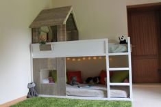 Billedresultat for ikea kura hack Bunk Beds For Boys Room, Bunk Beds With Stairs, Kid Beds, Diy Lit, Ikea Kura Bed, Bedding Inspiration, Maila, New Room, House Beds