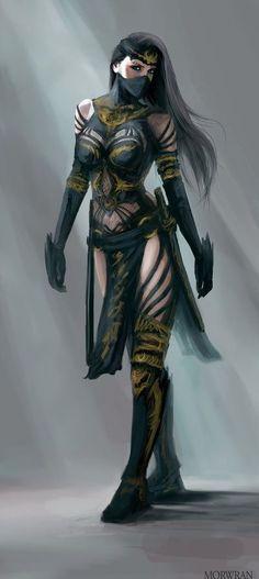 ideas for fantasy art female assassin anime Fantasy Warrior, Fantasy Girl, Foto Fantasy, Warrior Girl, Fantasy Women, Dark Fantasy, Dnd Characters, Fantasy Characters, Female Characters