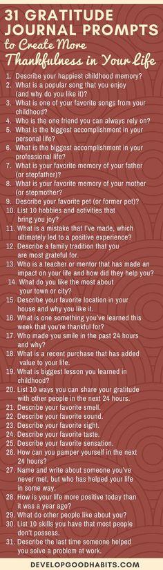 These 31 Gratitude J