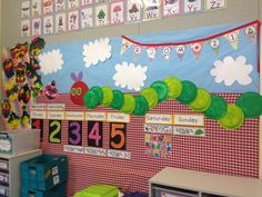 The Very Hungry Caterpillar display /bulletin board - kindergarten / foundation - teaching ideas