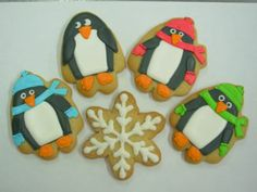penguin cookies - OMG these would be so cute at a Reveler party!