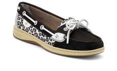 Ladies Sperry Angelfish Black Leopard Sparkle Boat Shoe 9102831 BNIB | eBay