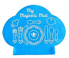 Toddler To To Responsible Giggle Burp Majestic Blue Suction Portable Placemat For Toddlers Baby