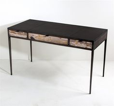 Interlude Lyon Writing Desk. Bringing together a trio of different elements, the Lyon Writing Desk delivers a statement-making, stylish piece. – Modish Store