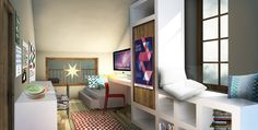 small studio apartments Small Studio Apartments, Loft, Bed, Furniture, Home Decor, Decoration Home, Stream Bed, Room Decor, Lofts