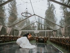 This stunning forest wedding takes place at a dream mountain venue We're swooning for this moody-toned Fall forest wedding at our dream venue in the Sierra Nevada mountains – Chalet View Lodge – We The Wild Productions – Hayley Paige – Jenn Robirds Events Wedding Places, Wedding Locations, Wedding Goals, Destination Wedding, Wedding Ideas, Wedding Planning, Fall Wedding Destinations, Diy Wedding, Wedding Venue Inspiration