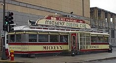 Mickey's Diner, St. Paul, MN  I've actually eaten at this place several times.