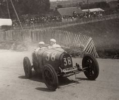 1927- Coupe Florio Saint Brieuc- Lehoux at the wheel of his T35-