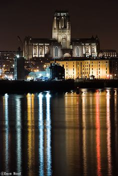 Liverpool Angican Cathedral  from the River Mersey  by Dave Wood