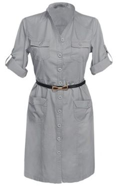 Glamour Empire Women's Mandarin Collar Combat Style Shirt Dress w/ Pockets 096 (US 4, Grey) Glamour Empire http://www.amazon.com/dp/B00JLIF746/ref=cm_sw_r_pi_dp_NaxMtb0RFZA4BN94